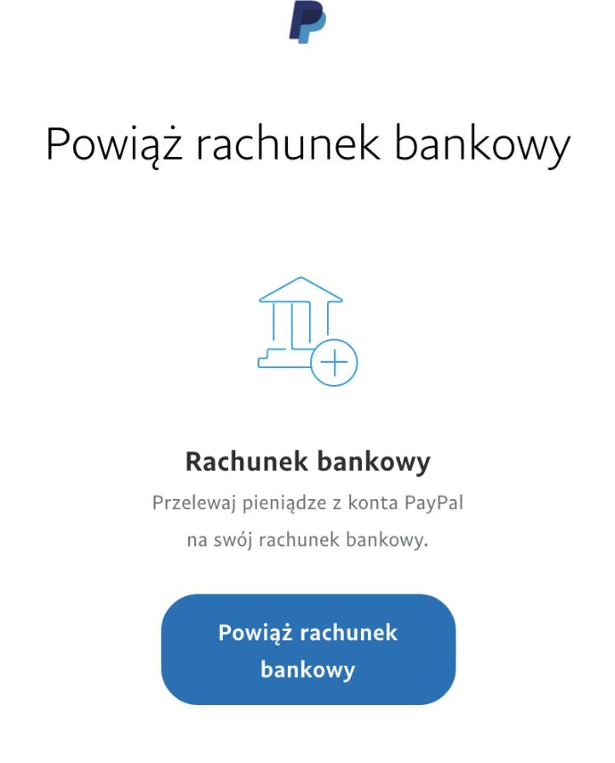 krok 2 - powiązanie konta bankowego